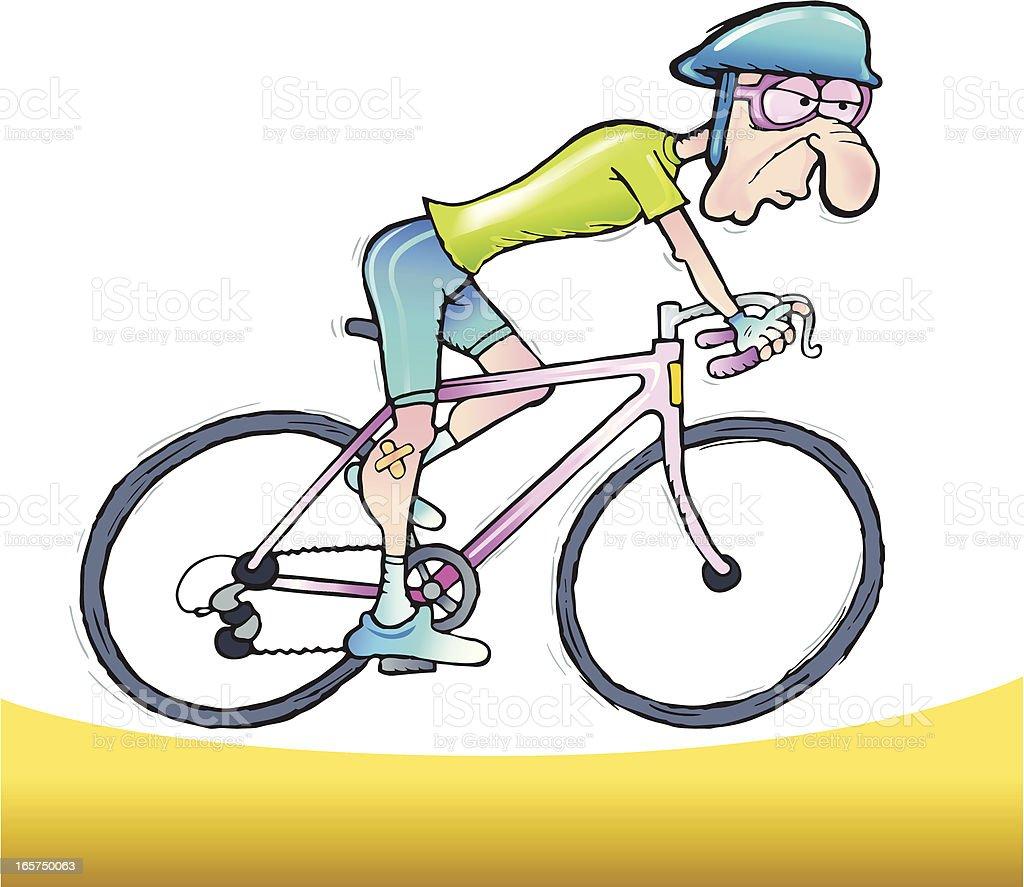 Racing Cyclist royalty-free stock vector art