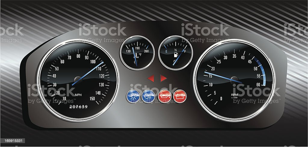 Racing dashboard royalty-free stock vector art
