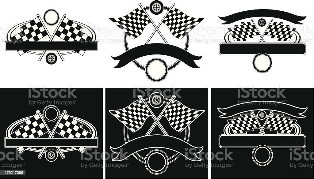 Racing Design Templates royalty-free stock vector art
