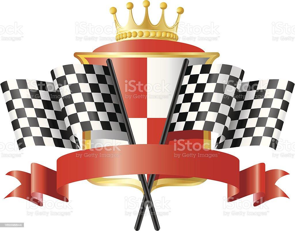Racing Emblem 3 royalty-free stock vector art