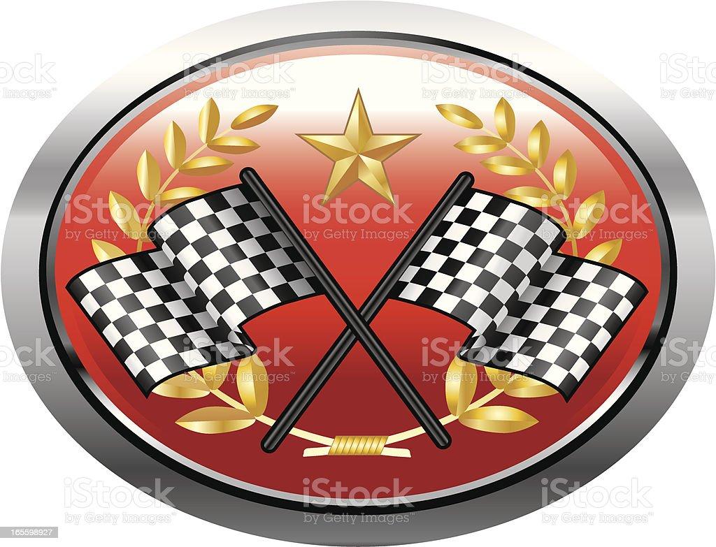 Racing Emblem 5 royalty-free stock vector art