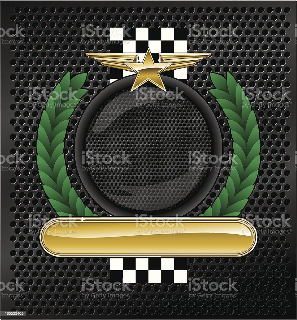 Racing emblem royalty-free stock vector art