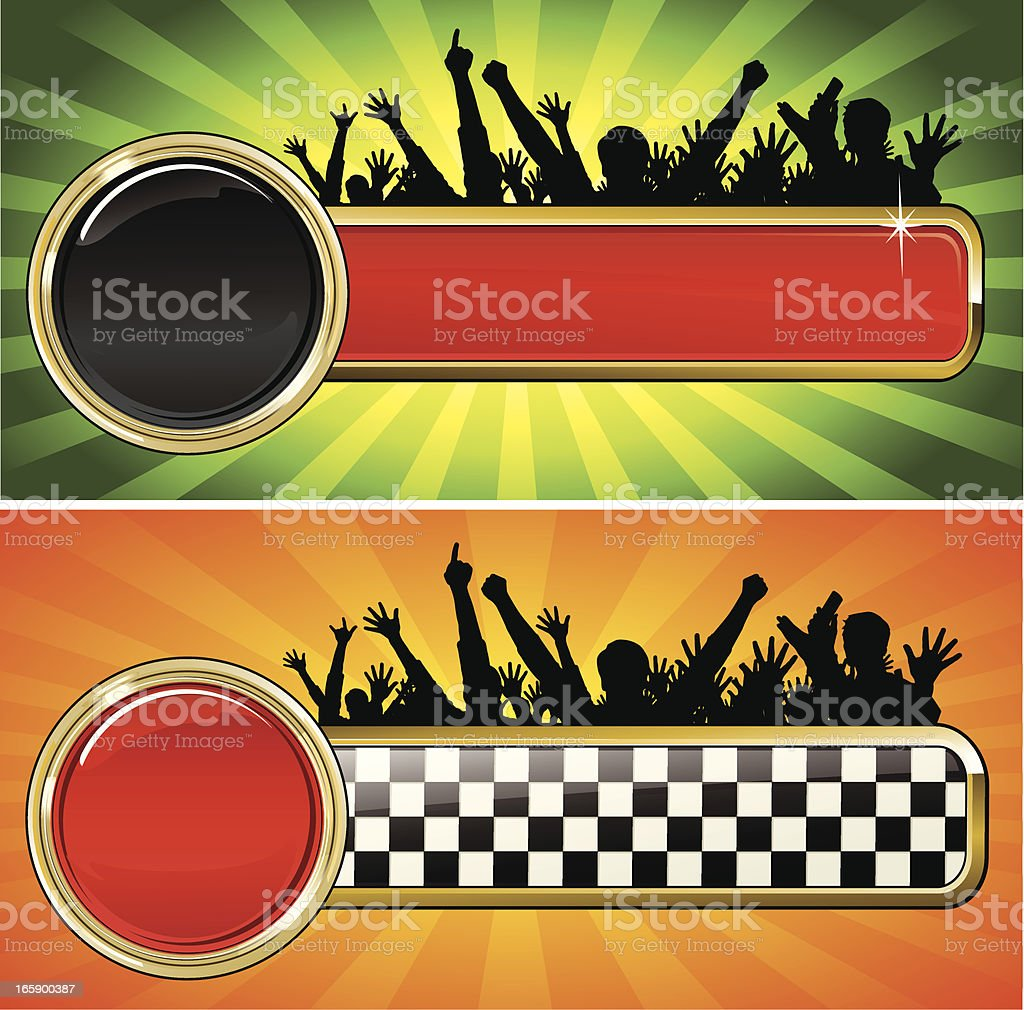 Racing Emblem with fans royalty-free stock vector art