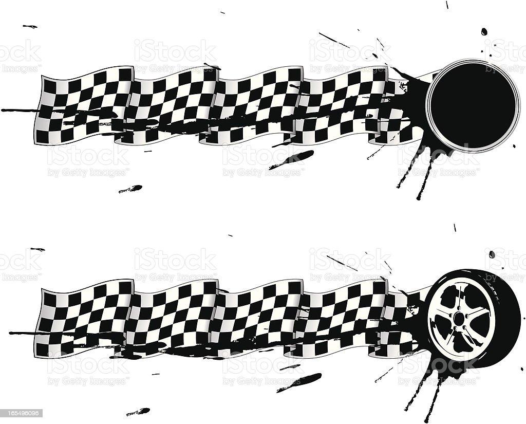racing emblems royalty-free stock vector art