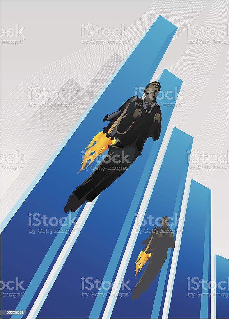 Racing Executives vector art illustration