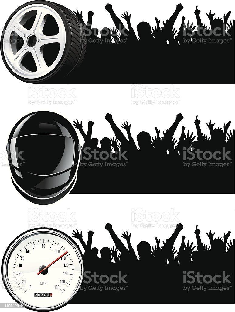 Racing fans! royalty-free stock vector art