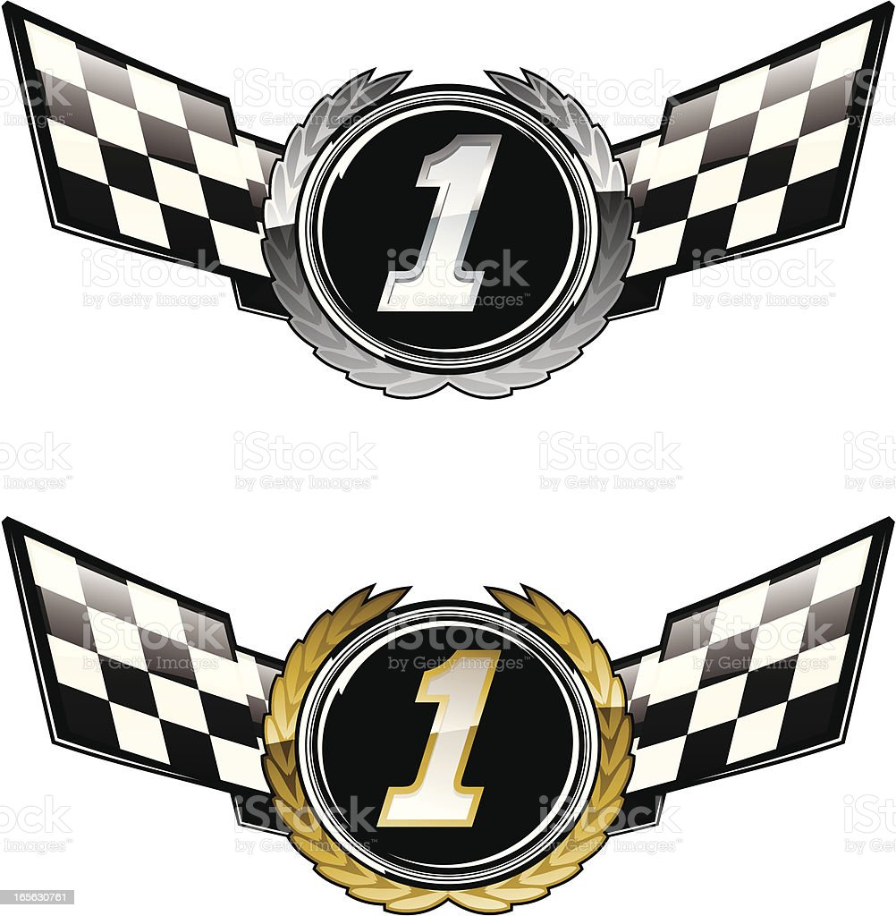 Racing first royalty-free stock vector art
