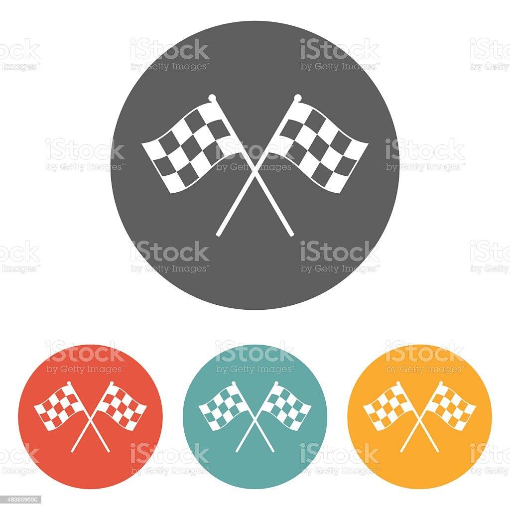 racing flag icon vector art illustration
