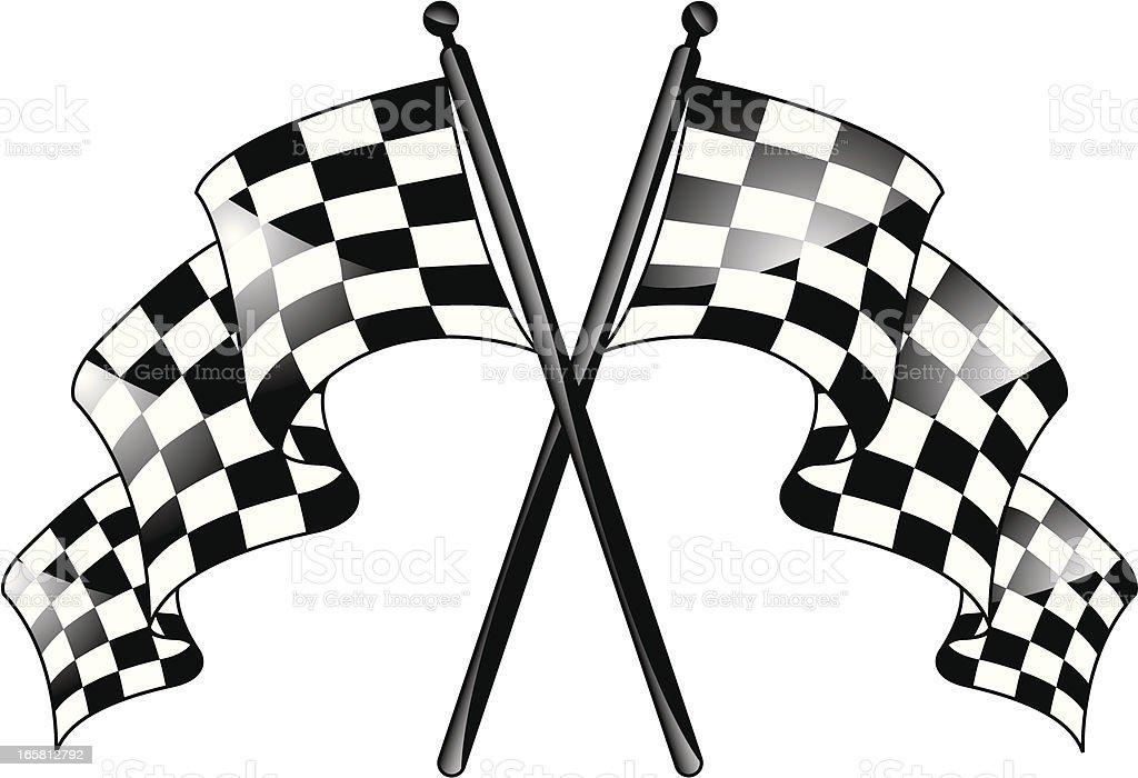 Racing Flag royalty-free stock vector art