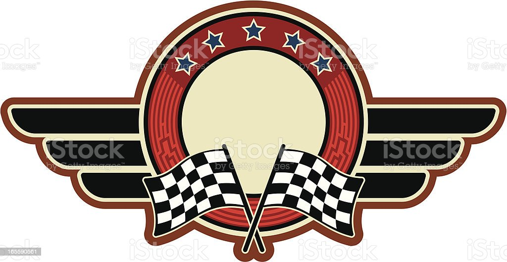 racing flags insignia royalty-free stock vector art