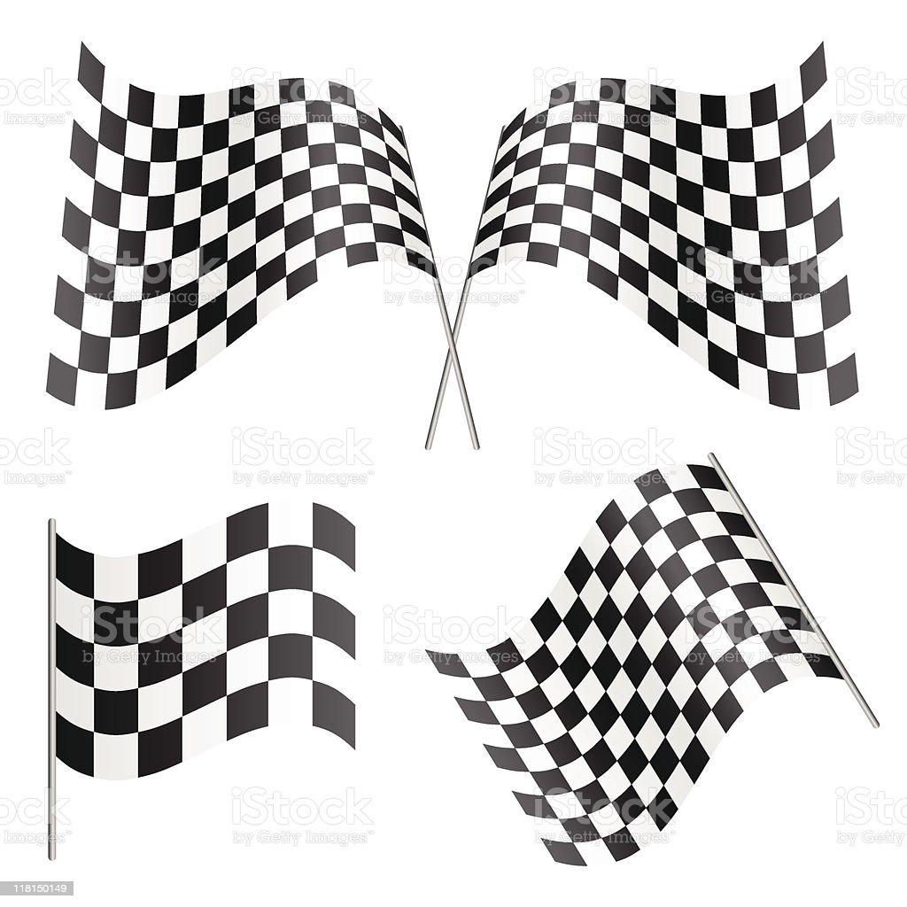 Racing Flags (vector) vector art illustration