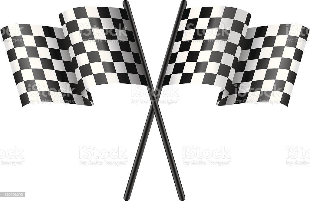 Racing Flags royalty-free stock vector art