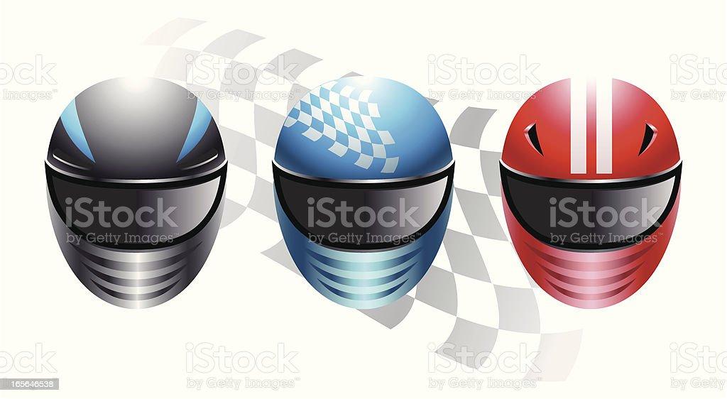 Racing Helmets vector art illustration
