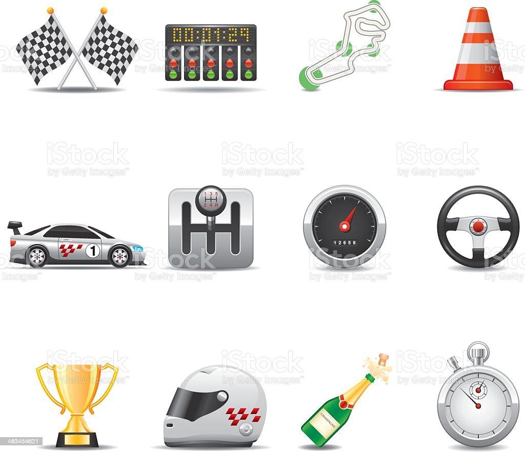 Racing Icon Set | Elegant Series royalty-free stock vector art