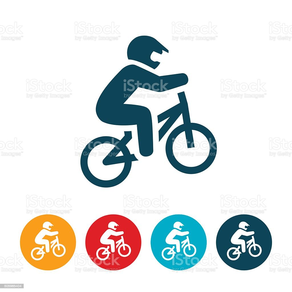 BMX Racing Icon vector art illustration