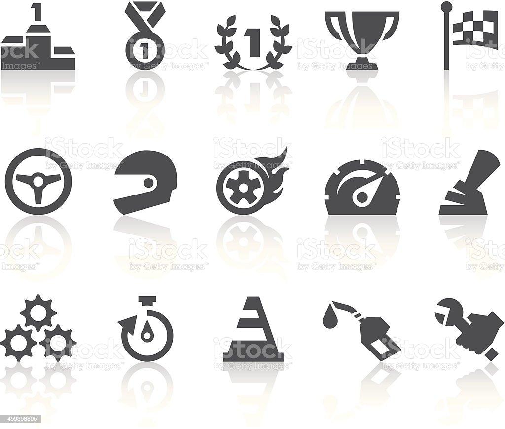 Racing Icons   Simple Black Series vector art illustration