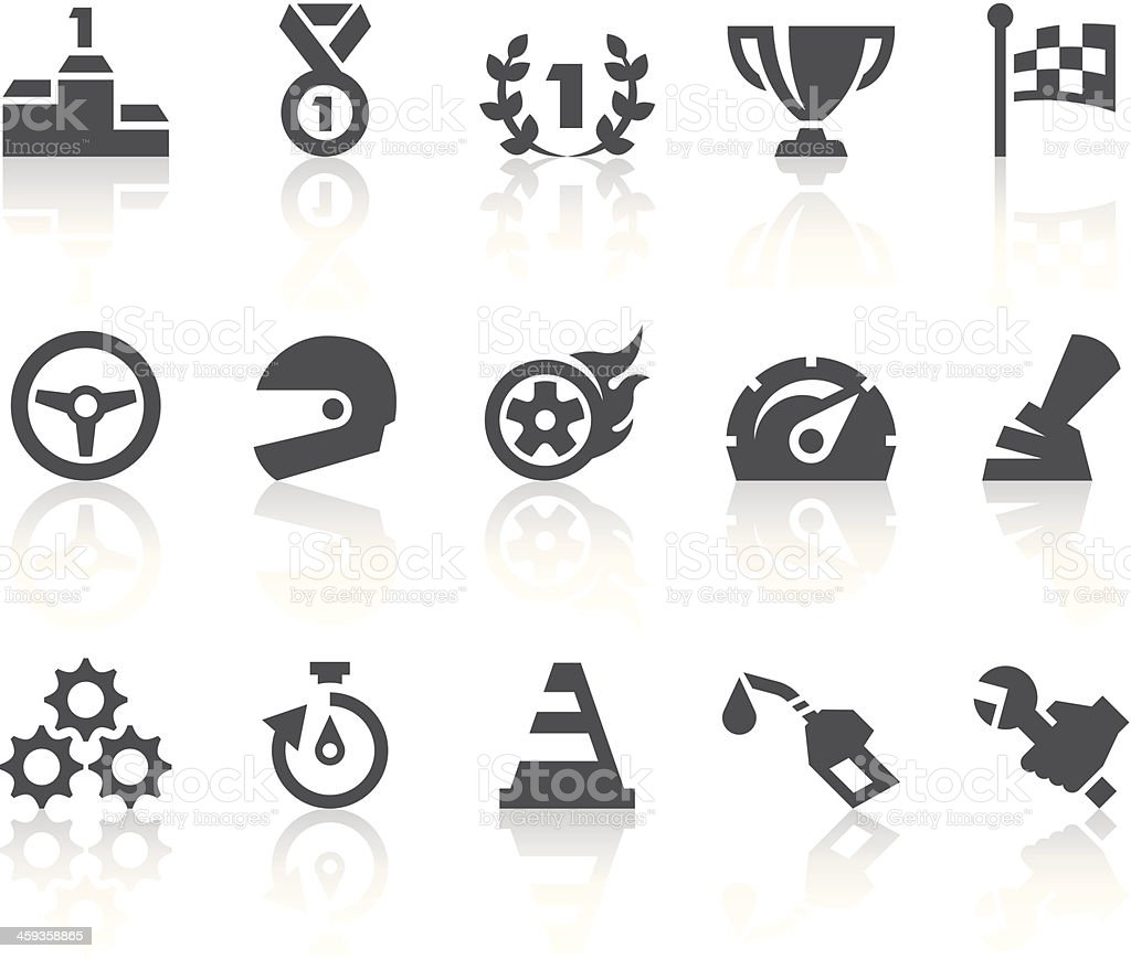 Racing Icons | Simple Black Series vector art illustration
