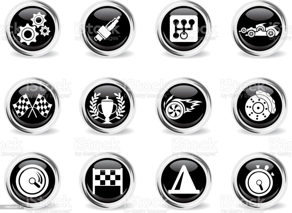 Racing icons royalty-free stock vector art