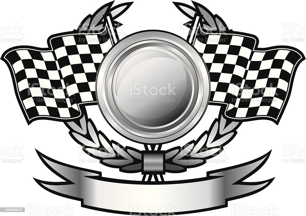 Racing insignia vector art illustration