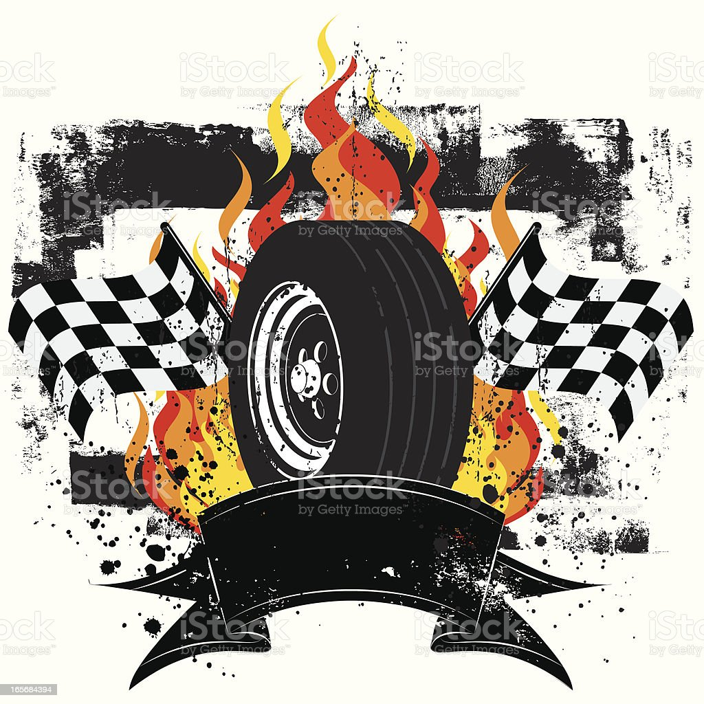 racing insignia royalty-free stock vector art
