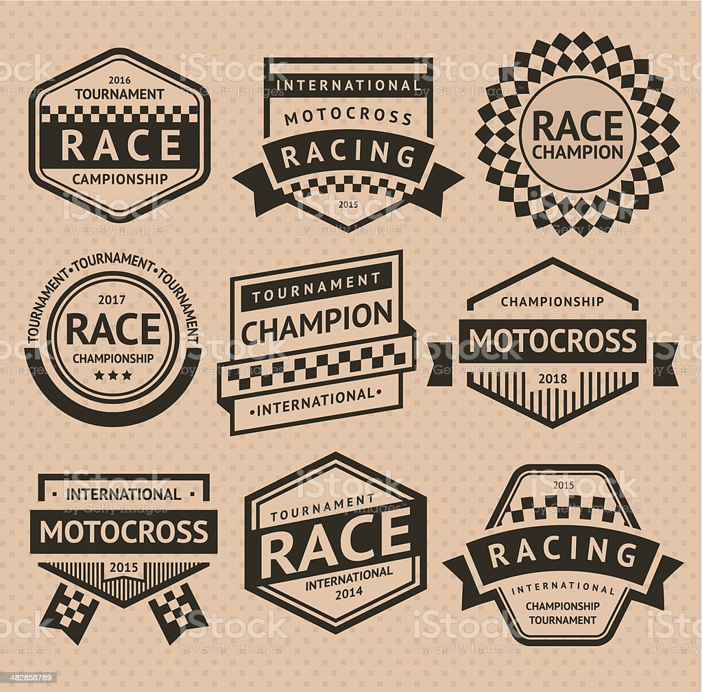 Racing insignia vector art illustration