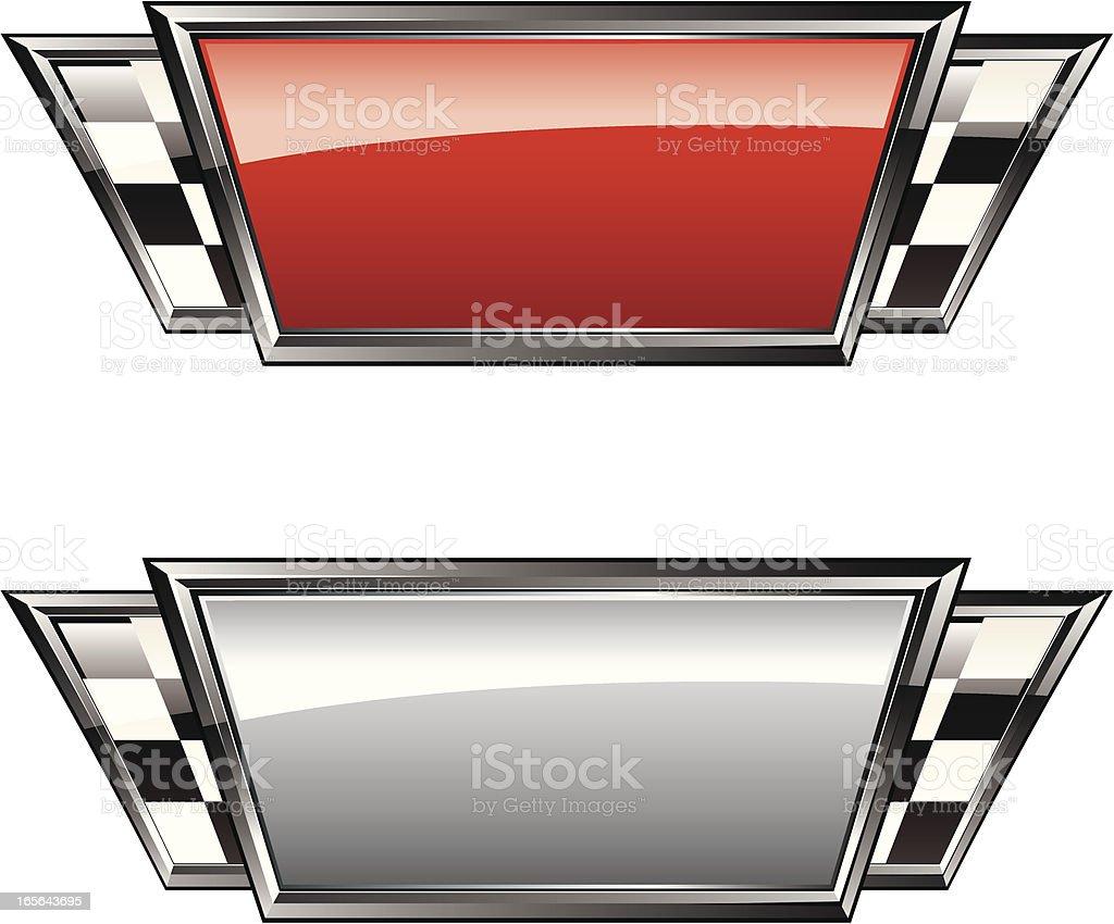 Racing Plaques vector art illustration