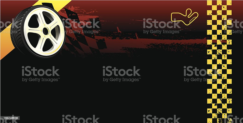 Racing poster royalty-free stock vector art