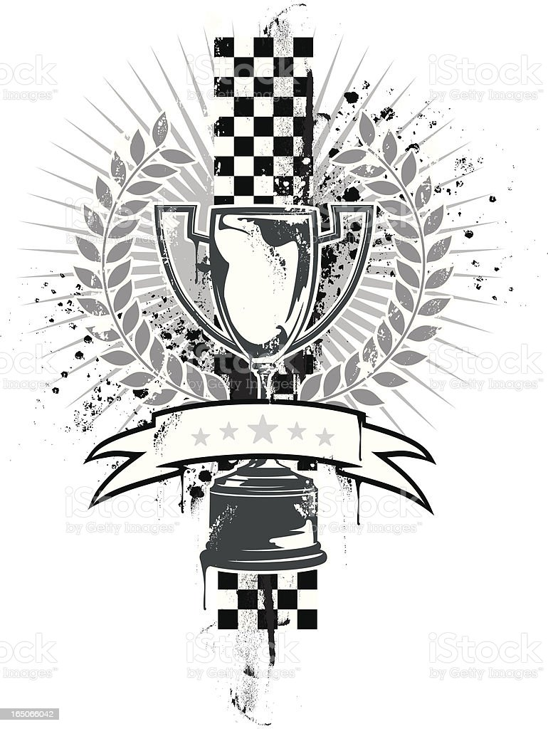 Racing prize grunge royalty-free stock vector art