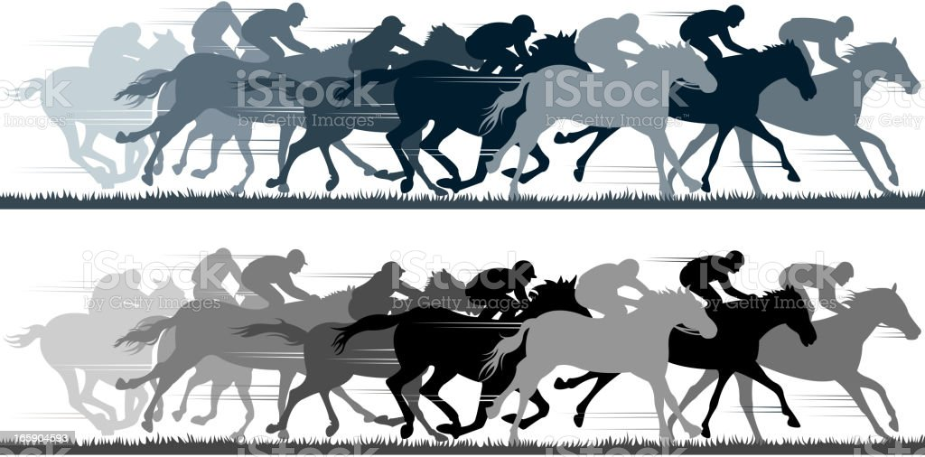 racing silhouette vector art illustration