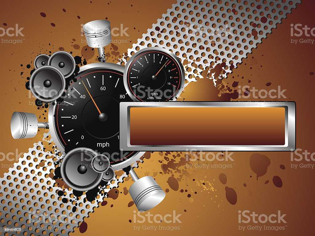 Racing Speed Grunge Text Banner royalty-free stock vector art