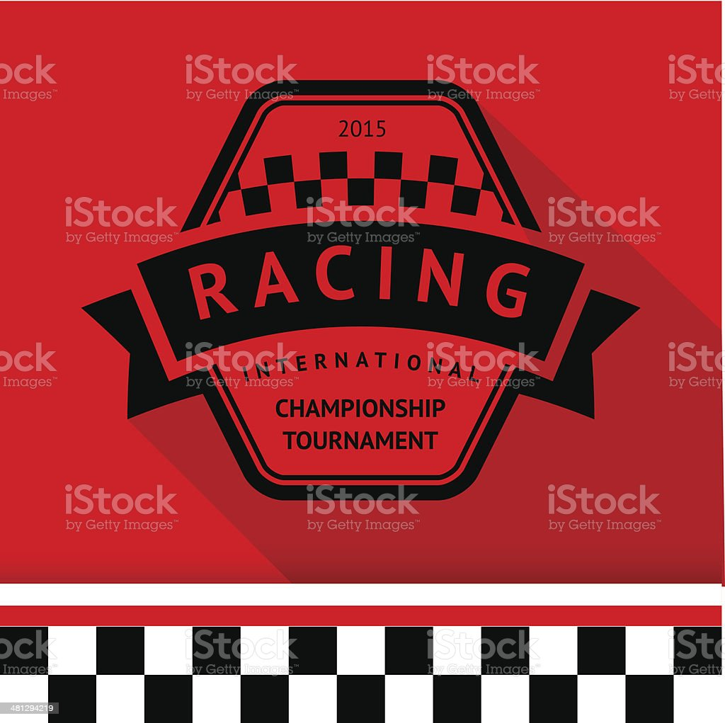 Racing stamp-09 vector art illustration