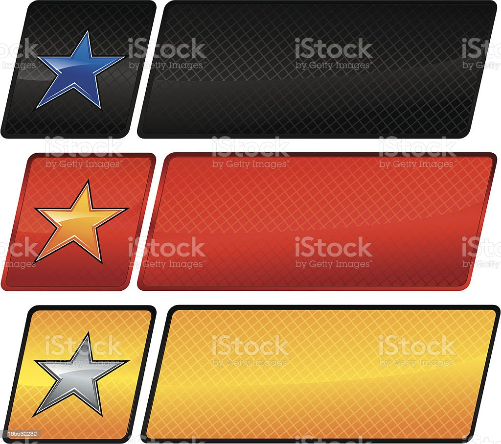 Racing star banners royalty-free stock vector art
