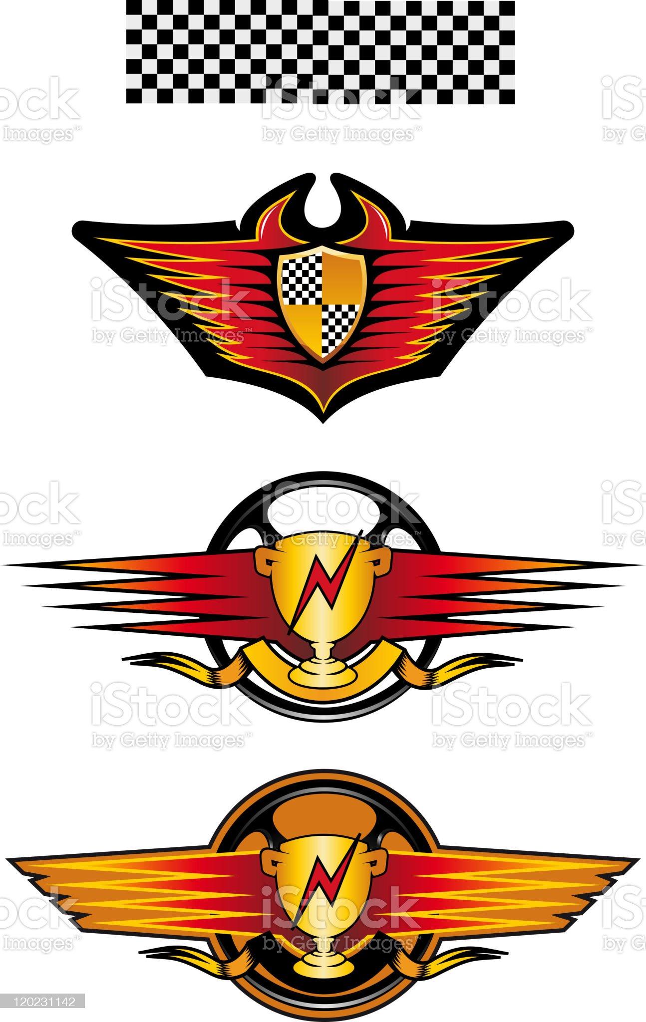 Racing symbols royalty-free stock vector art