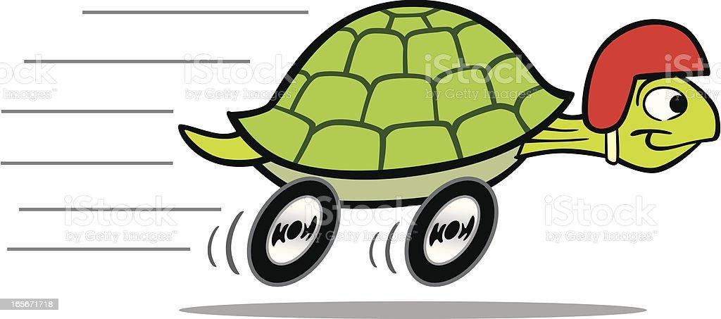 Racing Turtle vector art illustration