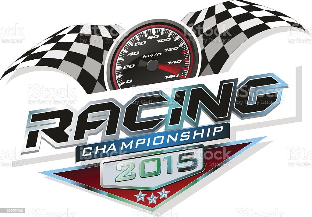 Racing vector art illustration