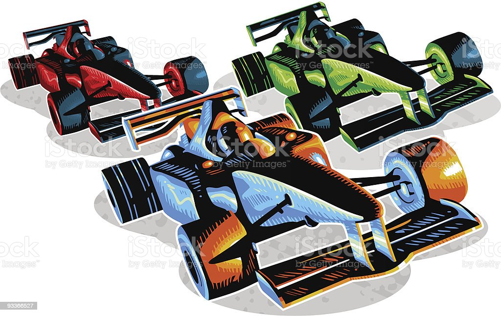 F1 Racing royalty-free stock vector art