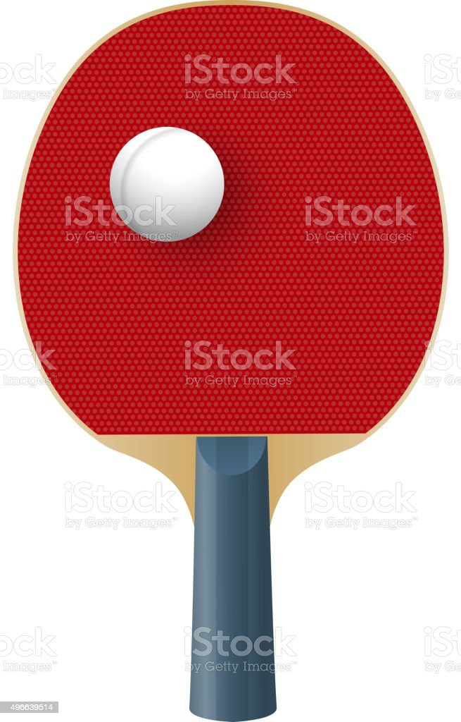 Racket for playing table tennis isolated on white background. Vector vector art illustration