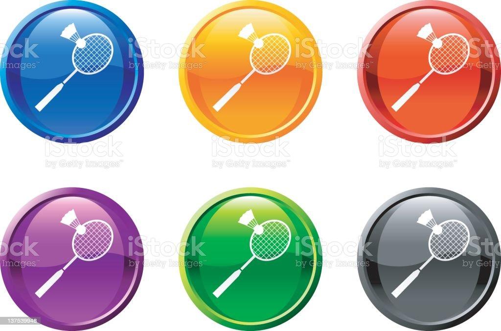 racquetball button royalty free vector art royalty-free stock vector art