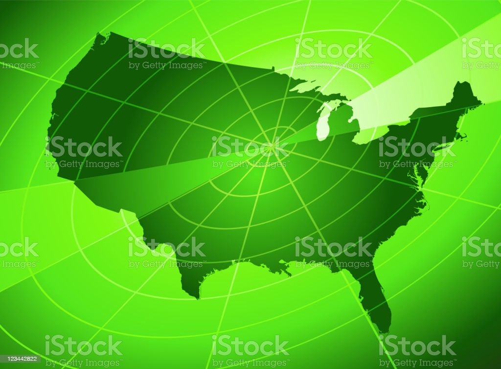 USA radar Background royalty-free stock vector art
