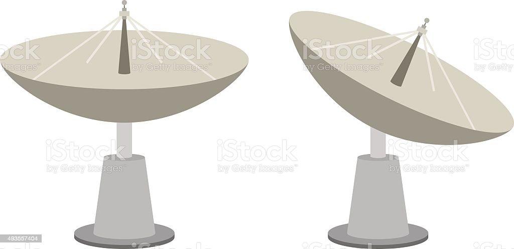 Radar dish vector art illustration