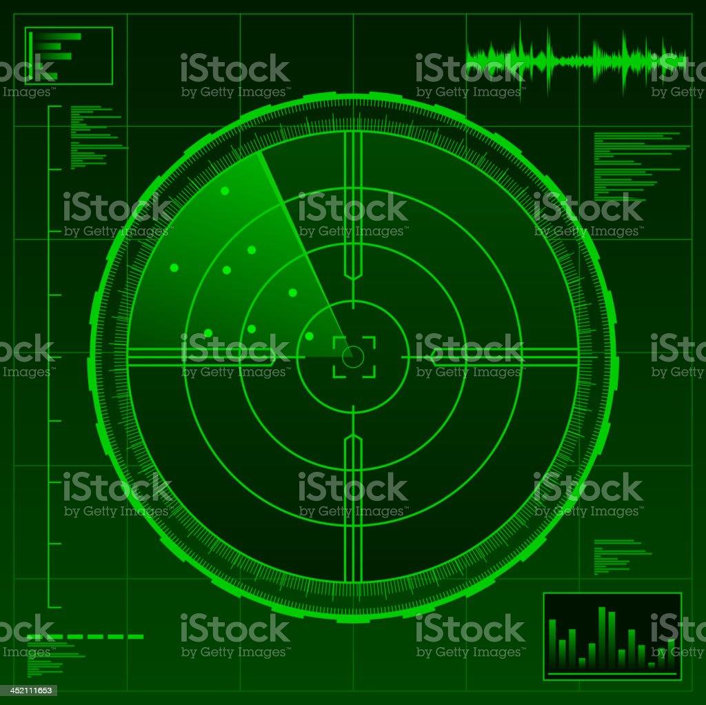 Radar military technology war army weapon royalty-free stock vector art