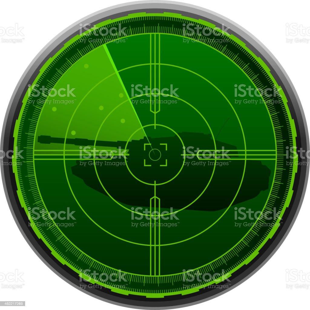 Radar Screen Combat Tank royalty-free stock vector art