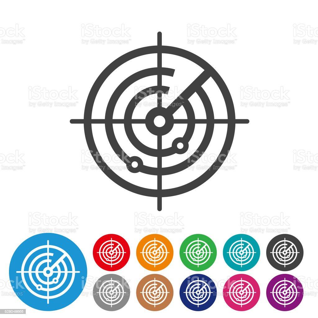 Radar Screen Icons - Graphic Icon Series vector art illustration