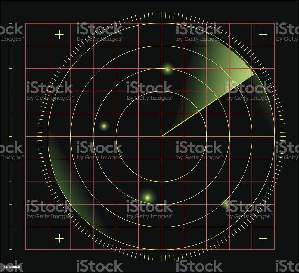 radar screens vector art illustration