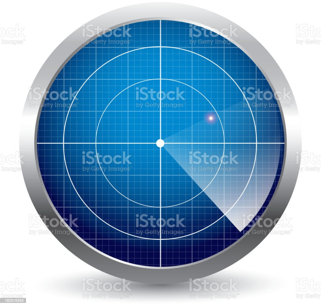 Radar vector art illustration