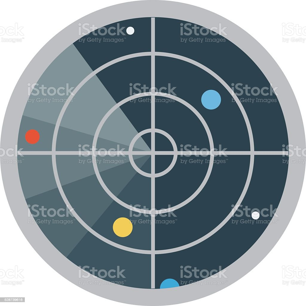 Radar Vector Illustration vector art illustration