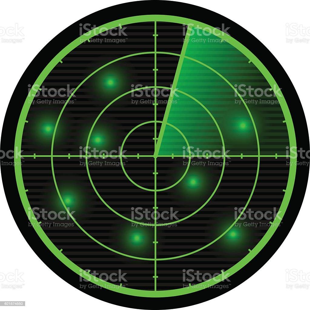 Radar vector illustration. vector art illustration