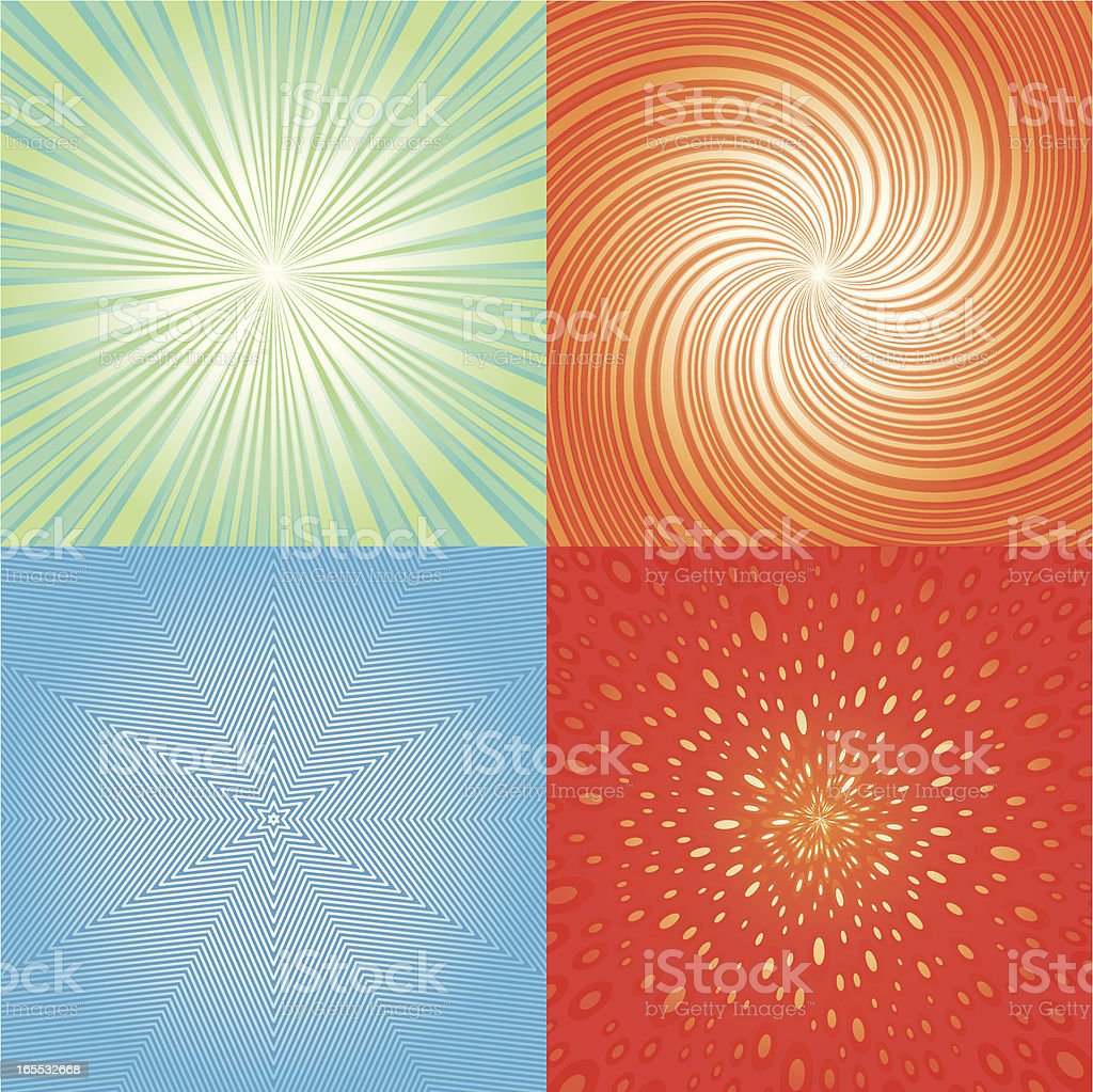 Radial Backgrounds royalty-free stock vector art