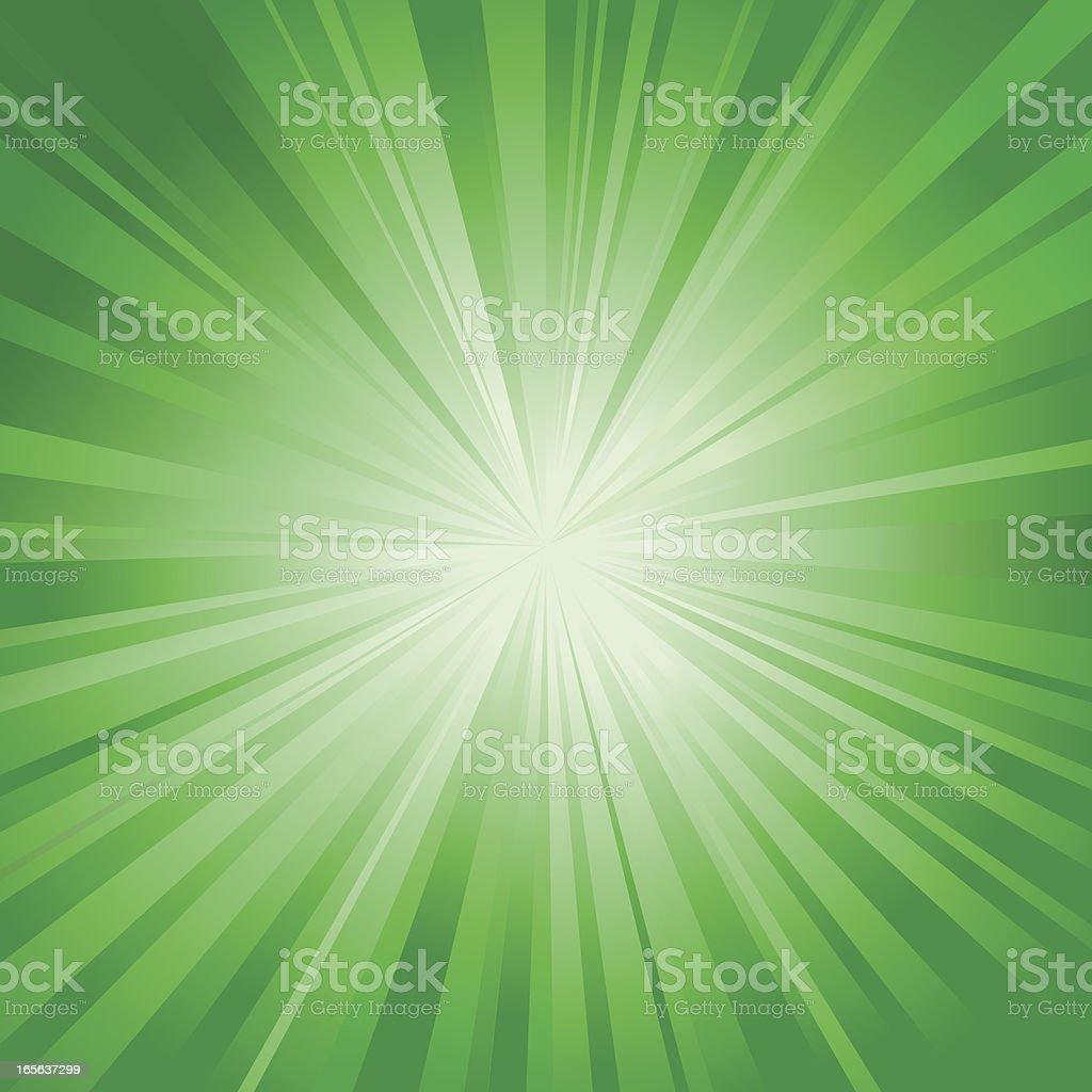 Radial Burst in Green vector art illustration