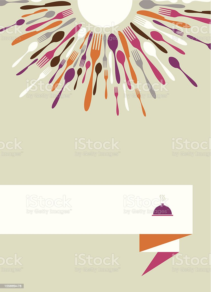 Radial cutlery menu background royalty-free stock vector art